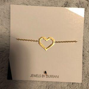 Heart gold bracelet